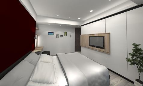莊敬路-陳公館3D 主臥室-4