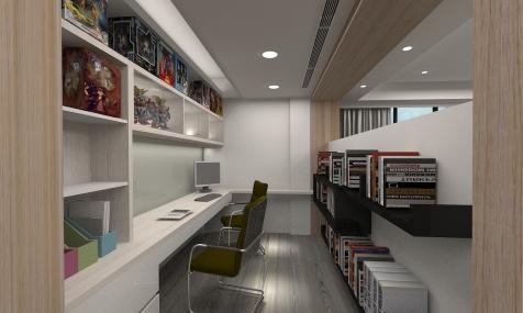 莊敬路-陳公館3D 書房-1